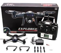 Drone DM007 -  2.4GHz 4CH Explorer LCD RC  6 Axes  Gyro UFO avec caméra