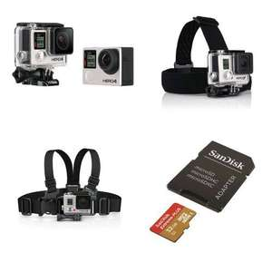 [Adhérents] Caméra GoPro Hero4 Black + Junior Chesty + Bandeau tête + Carte microSD 32Go