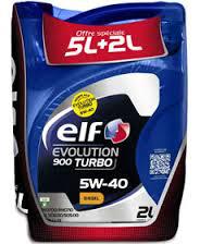 Huiles moteur ELF Evolution 7L (5+2) Essence ou Diesel en promotion - Ex : Huile 10W40 5L+2 (avec 50% sur la carte)