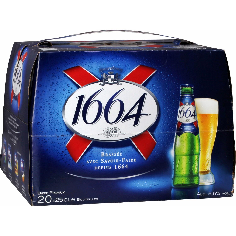 Pack de 20x25cL de bière 1664