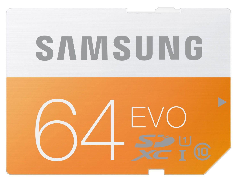 Carte mémoire SDXC Samsung Evo 64Go Classe 10 UHS-1