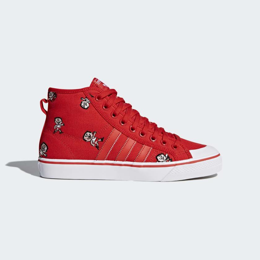 Chaussures Adidas Nizza Hi Rouge Ou Blanc (plusieurs Tailles JD9IvPeI