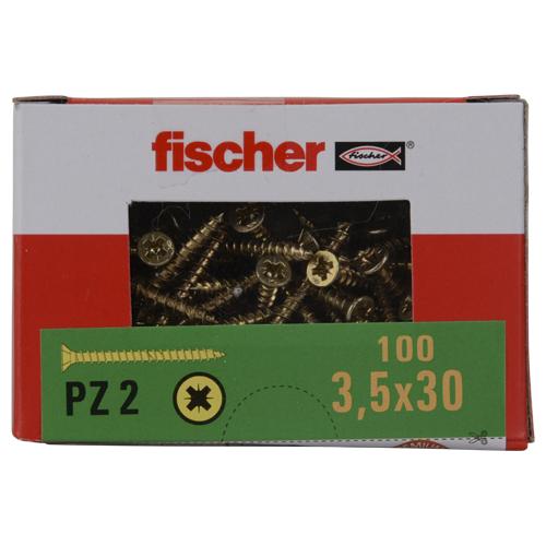 Boîte de 100 Vis Fischer pour aggloméré - PZ2 3,5x30mm