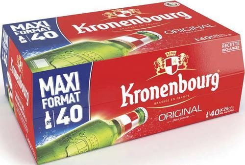 Pack de bières Kronenbourg 40*25cl (via BDR)