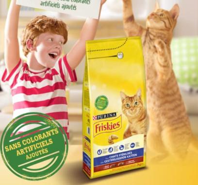 Échantillon de croquette chat stérilisé Friskies (Via le Site Mobile)