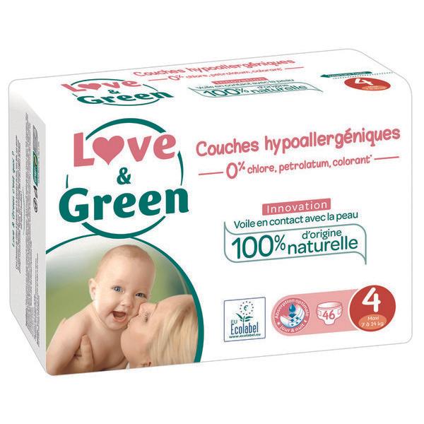 Pack de couches Couches Love & Green - Différentes tailles (via 12,71€ sur la carte fidélité)
