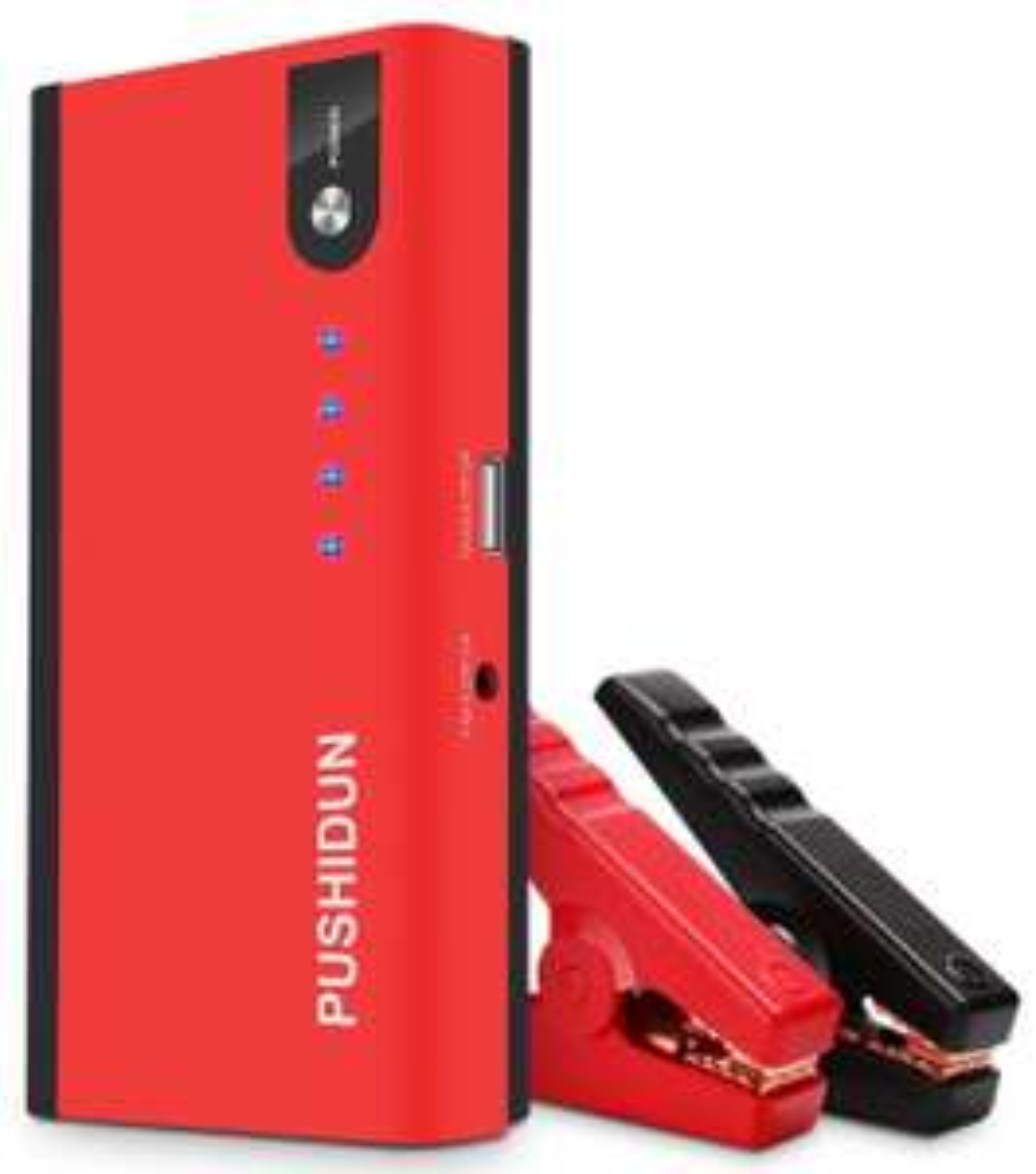 Booster de Batteries PushDun avec Pinces Alligator - 12000mAh / 500A + Kit de Conversion Car LED Phare P10-H11 (Vendeur Tiers)