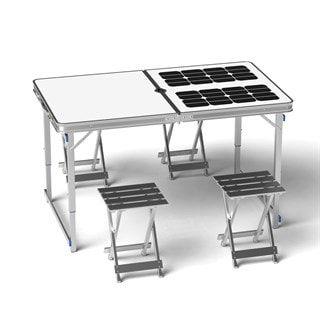 Table de pique-nique solaire - 4 personne