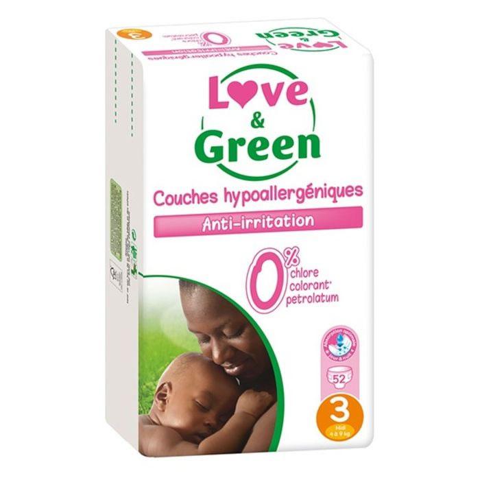 Sélection de Couches Love & Green en promotion
