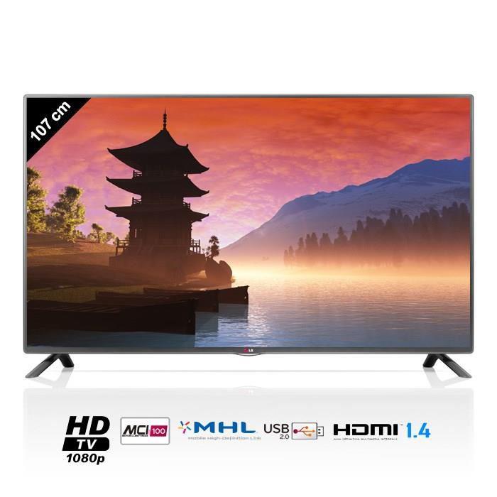"TV LED 42"" LG 42LB5610 - Full HD, 107cm (avec 10% en bons d'achat offerts environ 29€)"