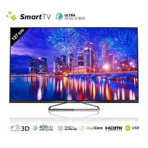 "TV LED 50"" Philips 50PUK6809 - UHD 4K, Smart TV, 3D (+58€ en bon d'achat)"