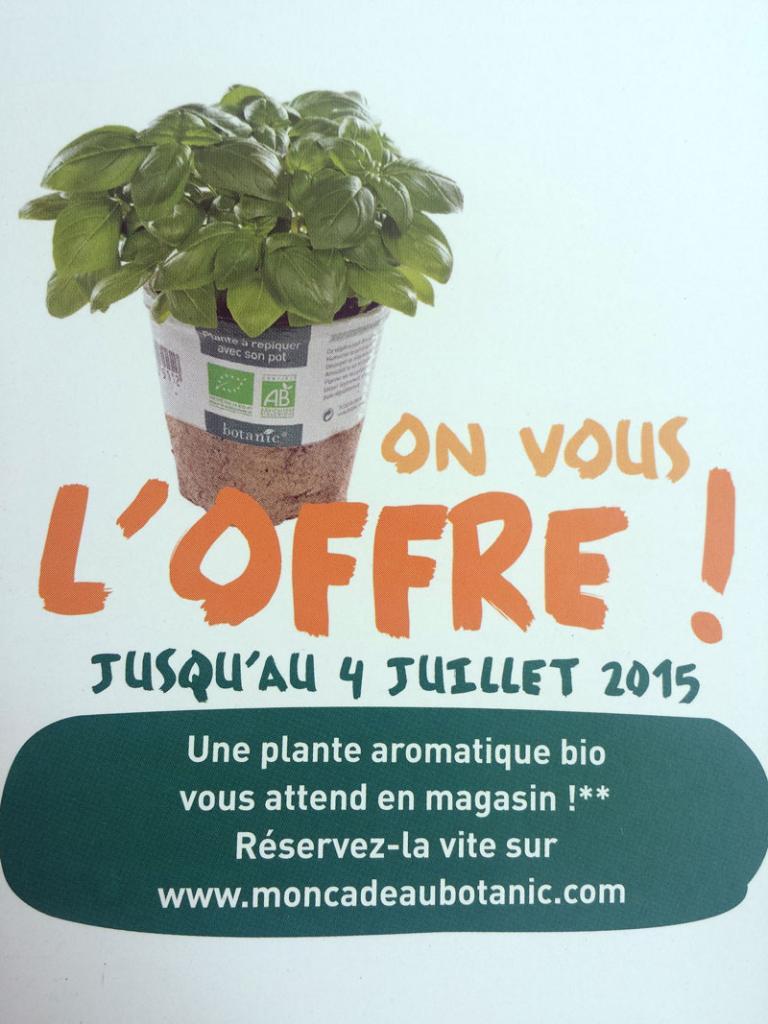 [Possesseurs carte club] Plante aromatique bio offerte et -15% sur tout le magasin