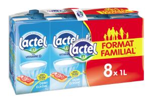 2 Packs de 8 briques de Lait lactel - 16x1L, Casinodrive Hérault (34)