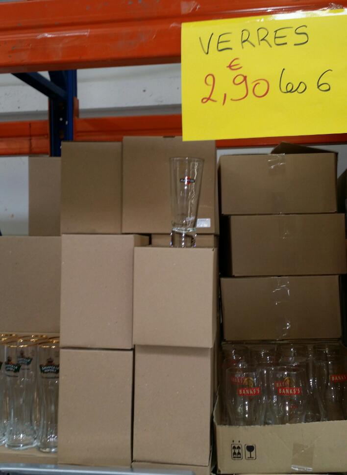 Lot de 6 verres Martini (Diverses marques de bière)