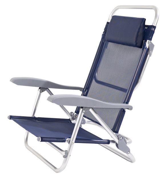 Chaise pliante Lipari -  Bleu