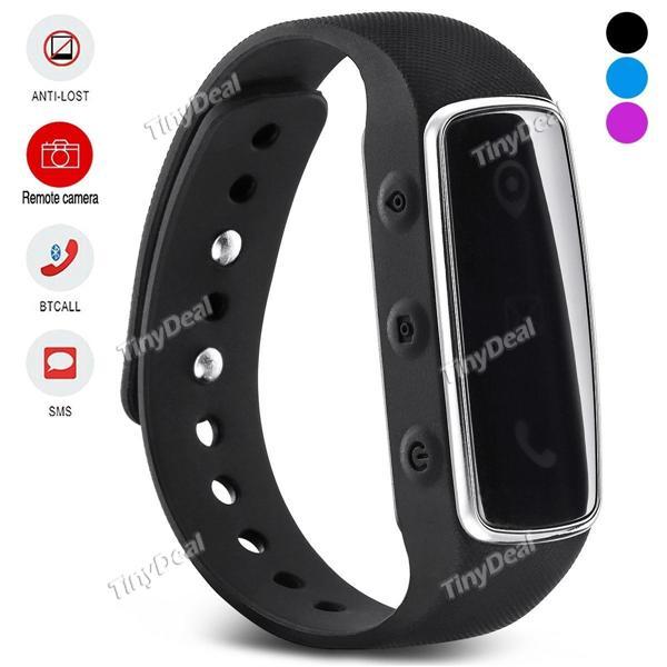 Bracelet connecté E01 (Bluetooth, fonction anti-perte...)