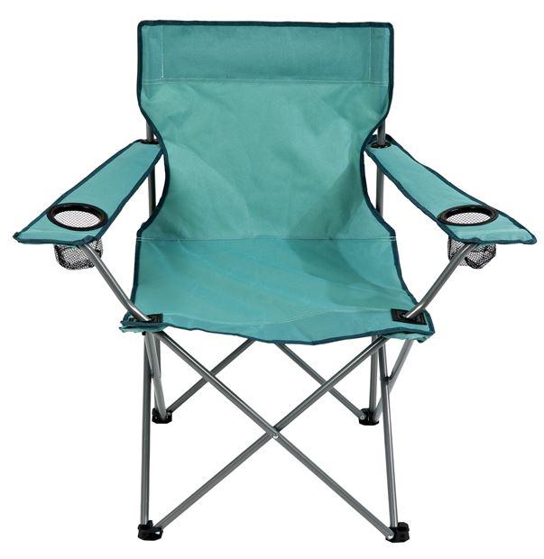 Chaise pliante Papillon Aqua - H 80 x Larg. 85 x P 51 cm