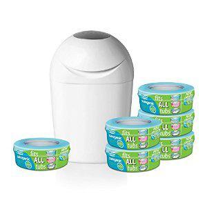 Pack poubelle à couches + 6 recharges Sangenic