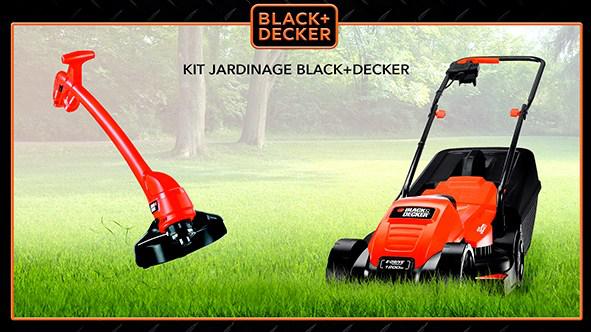 Tondeuse EMAX32 + Coupe bordures GL360 - Black+Decker