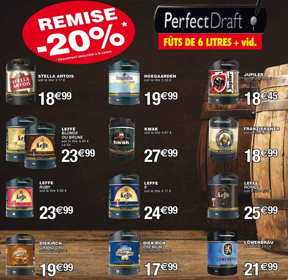 20% de réduction sur les fûts de bière PerfectDraft - Foetz (Frontaliers Luxembourg)