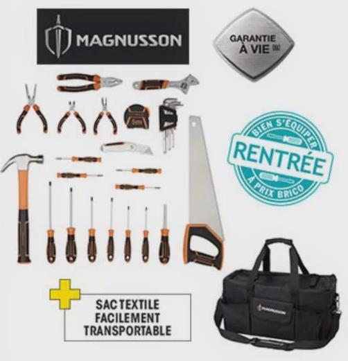 Sac à outils Magnusson - 50 pièces