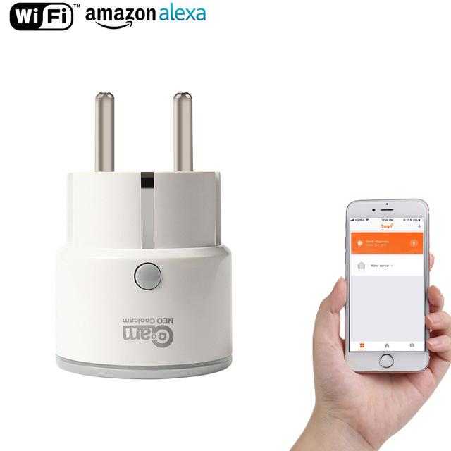 Prise connectée Wi-Fi Neo - Compatible Alexa et Google Home (via application)