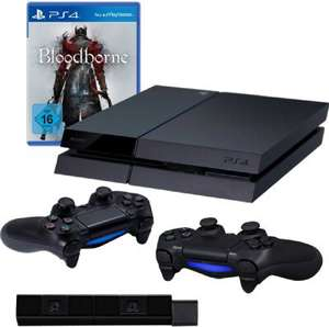 Pack console Sony PS4 + 2 manettes Dualshock 4 + PlayStation Camera + Jeu Bloodborne