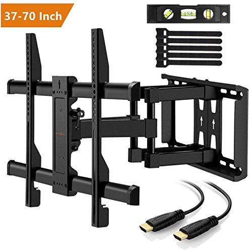 Support Mural TV Perlegear pour écrans 37-70 Pouces - Inclinable et orientable + câble HDMI 1.8m (vendeur tiers)