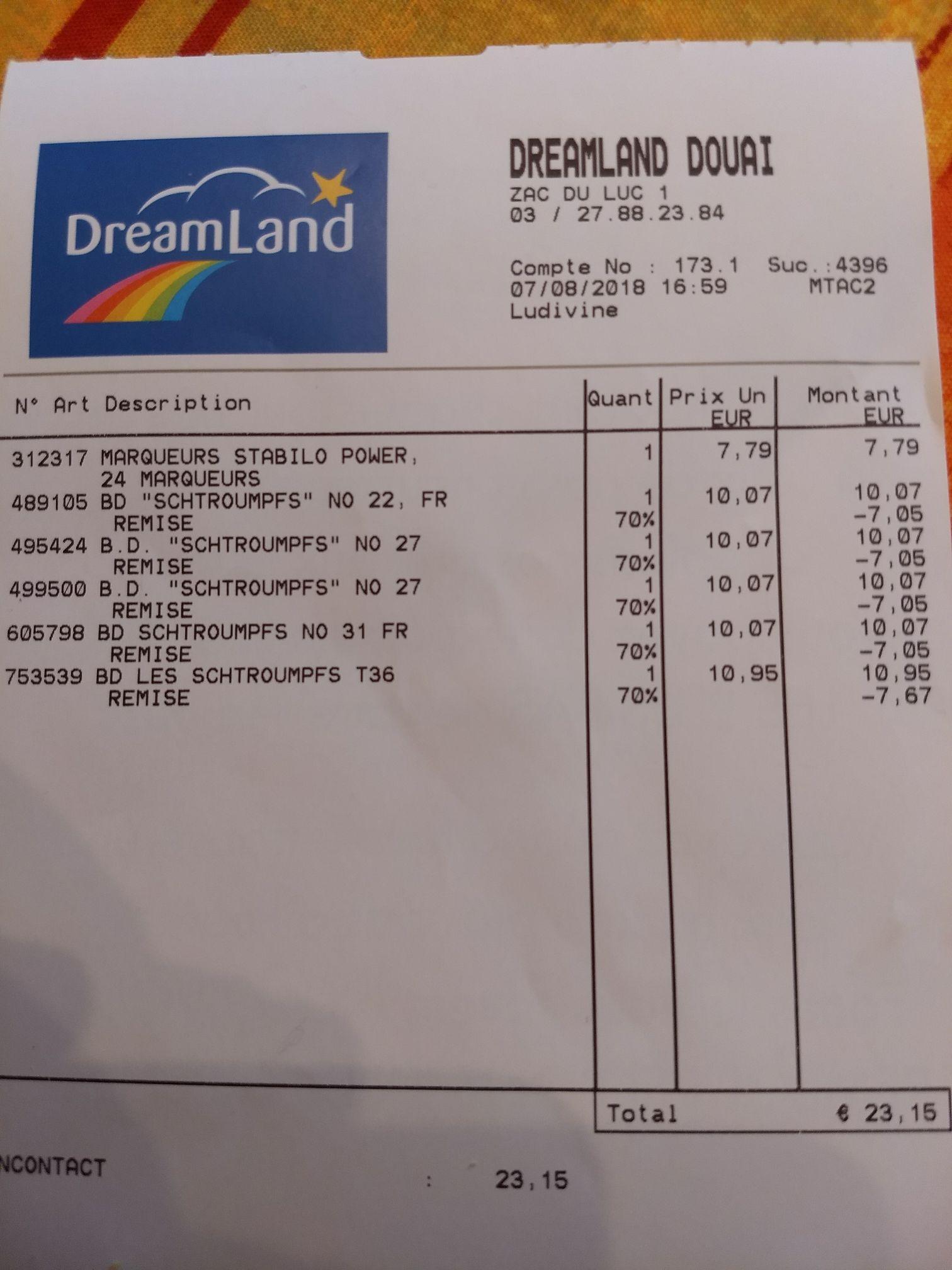 70% de réduction sur toutes les BD du magasin - Ex: BD Schtroumpfs - Dechy (59)