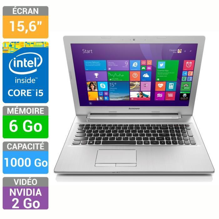 PC portable Lenovo  Z50-70 (i5-4210U, 6 Go RAM, 1To, GT820M 2Go) - Blanc