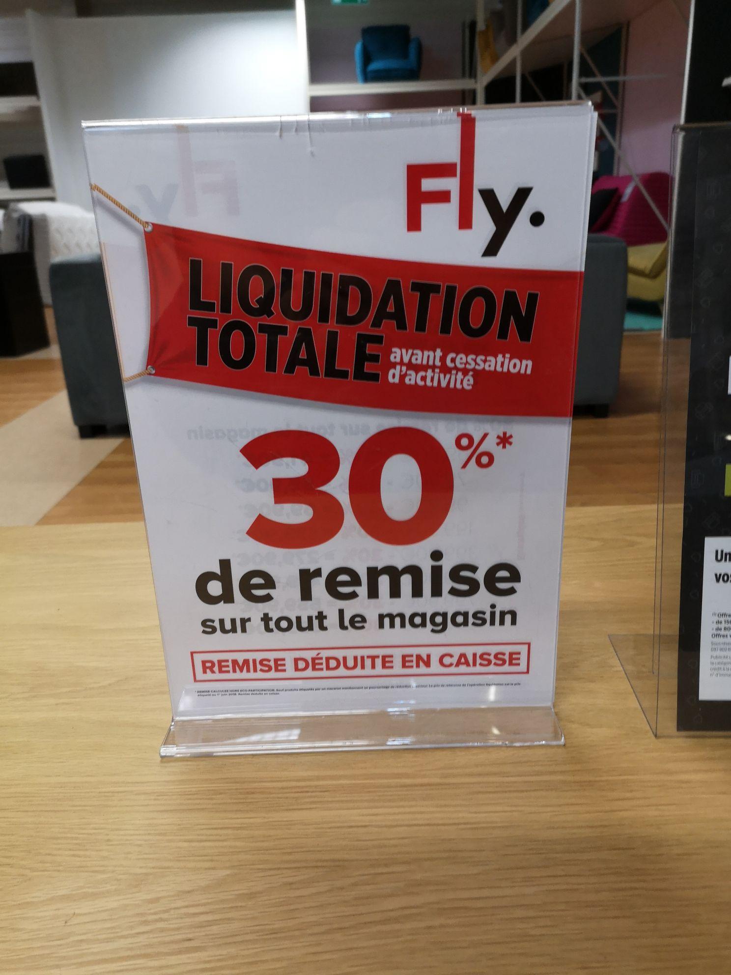30% de réduction sur tout le magasin