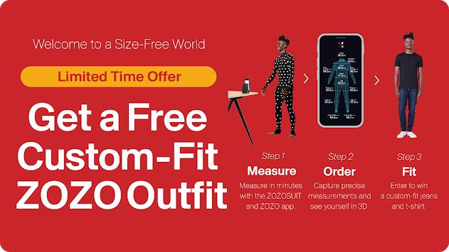 Pantalon et t-shirt sur mesure offerts via l'application ZOZO