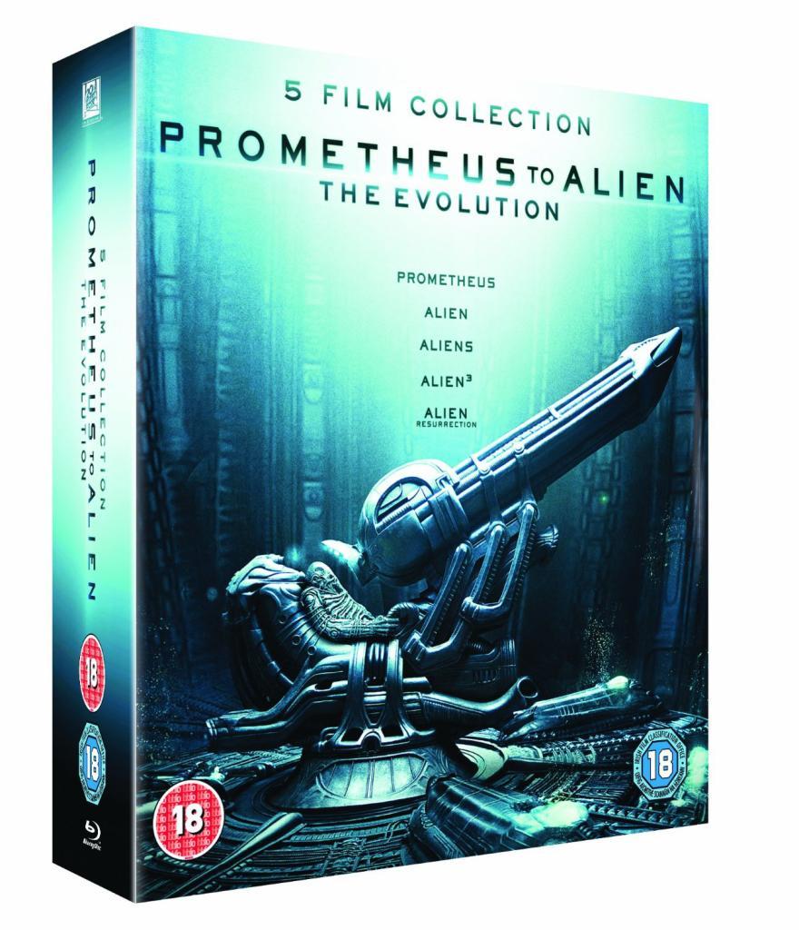 Coffret 8 Blu-Ray - De Prometheus à Alien, l'évolution