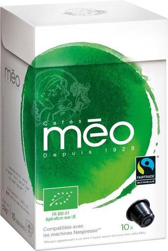 Capsules de Café Bio Méo X 10 (via BDR de 0,75€ + 30% sur la carte Waaoh)