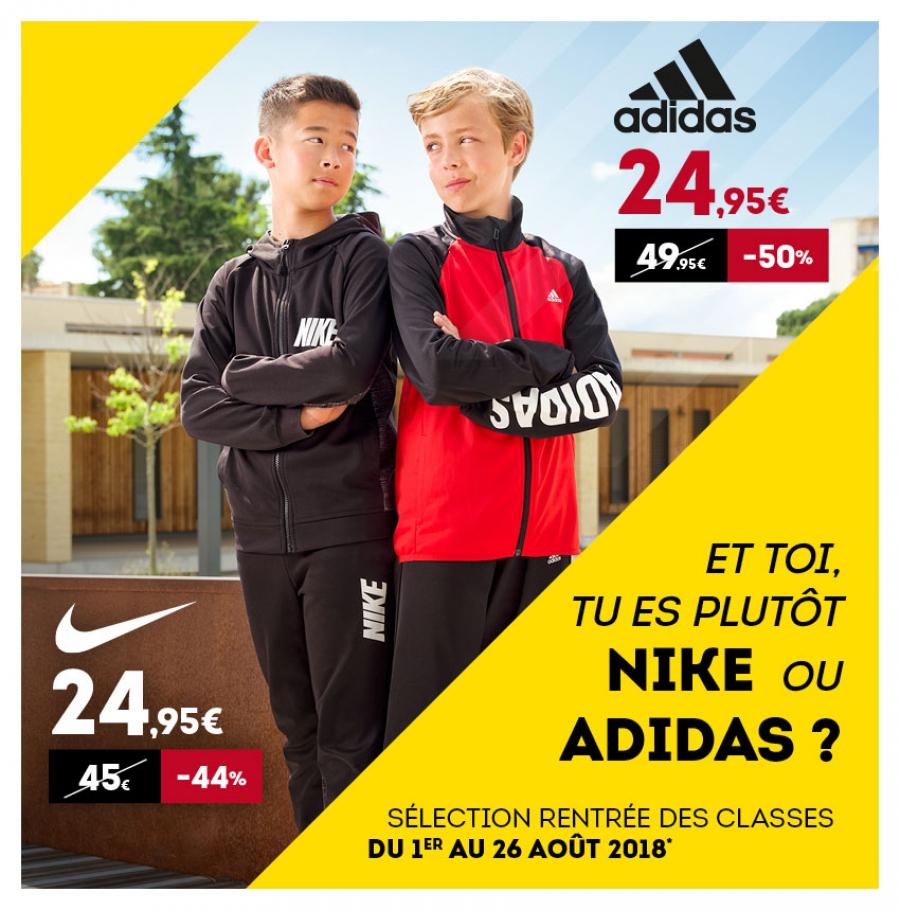Survêtement enfant Adidas ou Nike