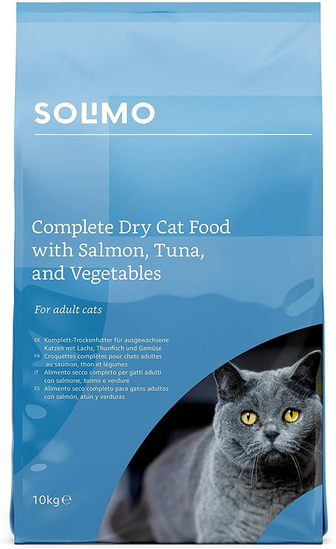 Sac de Croquettes Solimo pour chat adulte au Saumon/Thon & légumes - 10Kgs