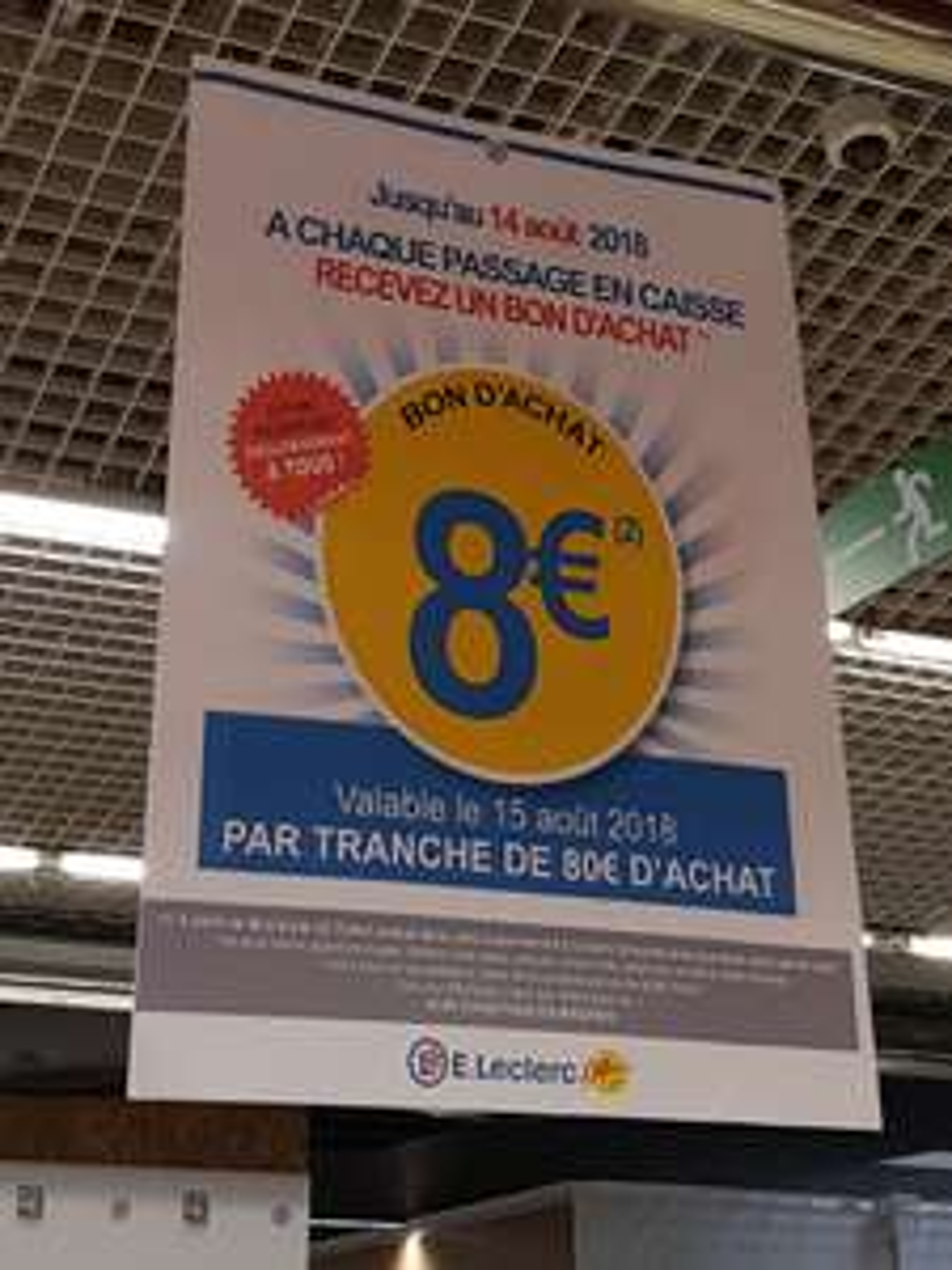 Bon d'achat de 8 euros de réduction dès 80€ d'achats pour chaque passage en caisse - Saint-Aunès (34)