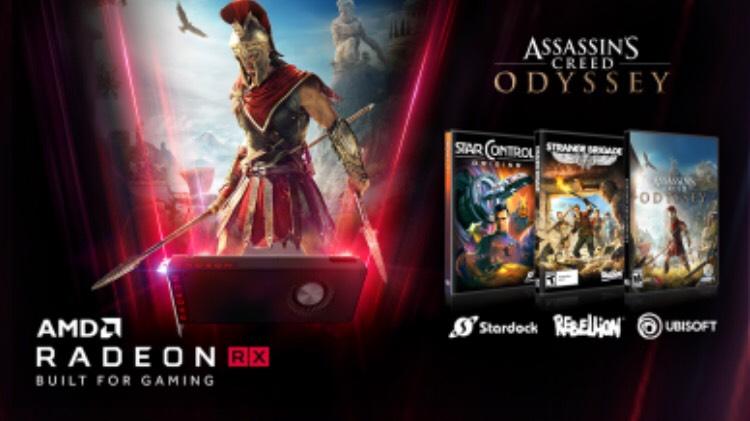 3 jeux offerts pour tout achat d'une carte graphique AMD Radeon RX