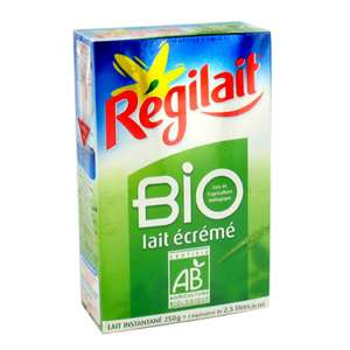 Lait Écrémé en poudre Bio Régilait 250g (via BDR de 0,30€ + 0.89€ sur la carte Waaoh)