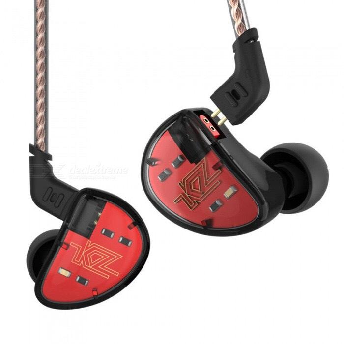Écouteurs intra-auriculaires KZ AS10 5BA - Black, Sans micro