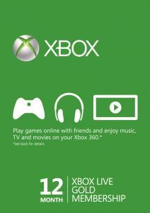 Abonnement Xbox Live Gold compatible Xbox One & Xbox 360 - 12 Mois