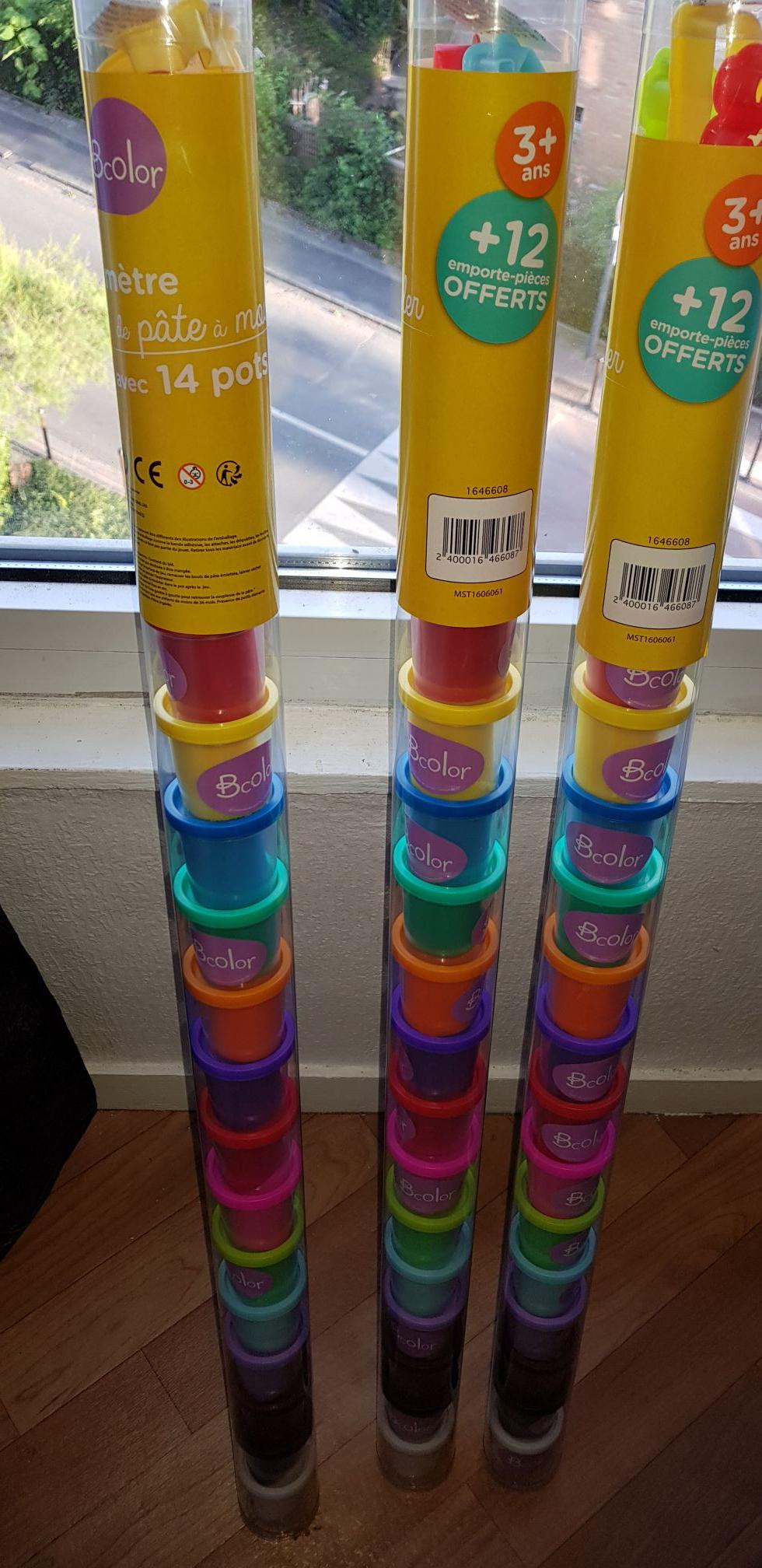 3x Tubes de 14 pots de pâte à modeler (soit 42 pots) - Villeneuve-d'Ascq (59)
