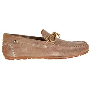 Mocassins en cuir Geox Giona taupe (Taille 39, 40, 44)