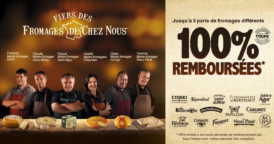 Super affaire pour les amateurs de fromages : retour de l'opération « fiers des fromages de chez nous » .