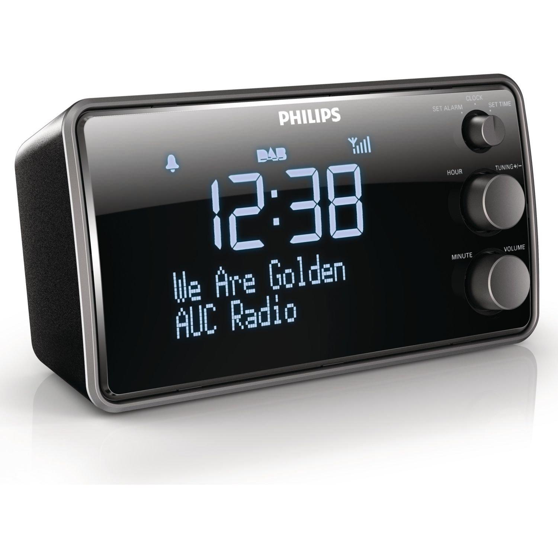 Radio-réveil Philips AJB3552/12 - Écran LCD Récepteur DAB+ - Reconditionné
