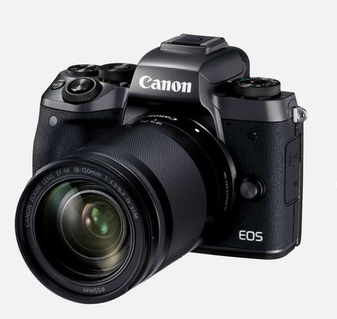 Appareil photo Canon EOS M5 + EF-M 18-150mm f/3.5-6.3 IS STM (via ODR de 60 €)