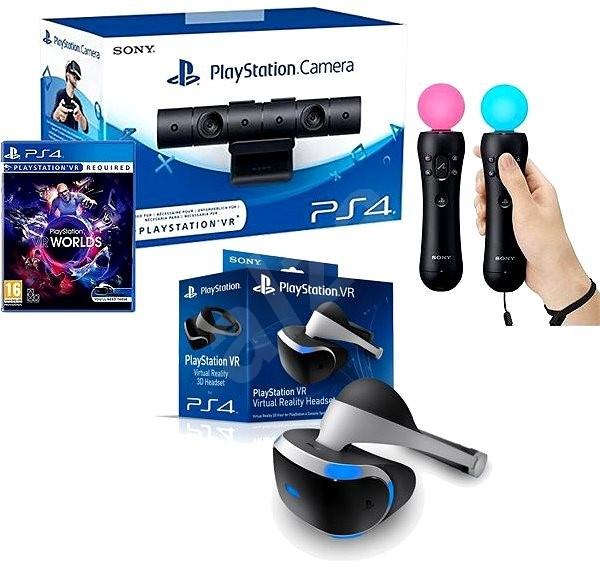Casque PlayStation VR V2 + Camera + VR Worlds (Dématérialisé) + 2 PS Move