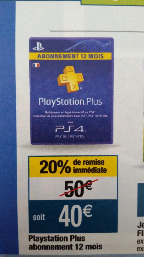 Abonnement de 12 mois au Playstation Plus