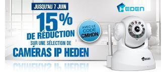 15% de réduction supplémentaires sur les caméras IP Heden