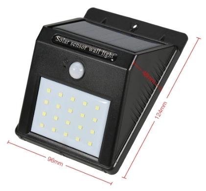 Lampe Solaire d'Extérieur avec Détecteur - 20 LED